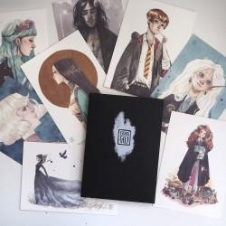 Pack postales Esther Gili Negro
