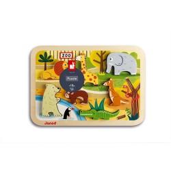 Puzzle encajar madera zoo