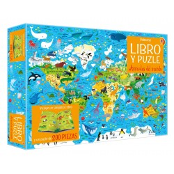 Libro-puzzle Animales del mundo 200 pz