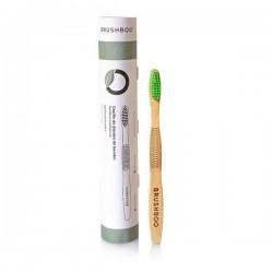 Cepillo dientes adulto bambú biodegradable Verde Claro