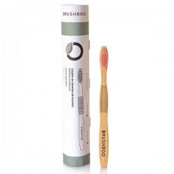 Cepillo dientes adulto bambú biodegradable Rosa