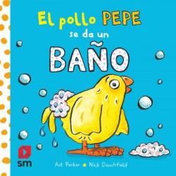 El pollo Pepe se da un baño (libro bañera)