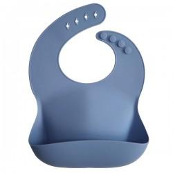 Babero silicona MUSHIE Azul