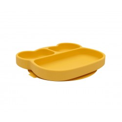 Plato con ventosa Amarillo