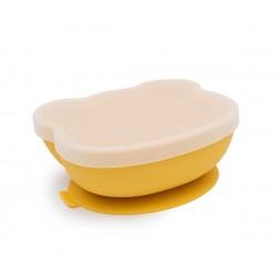 Bol silicona con ventosa Amarillo